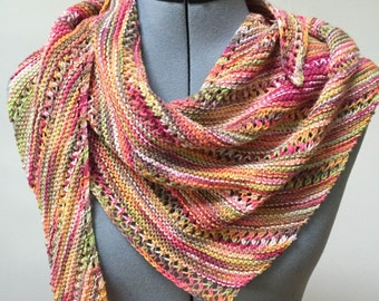 Multicolor Asymetrical Wrap/Shawl