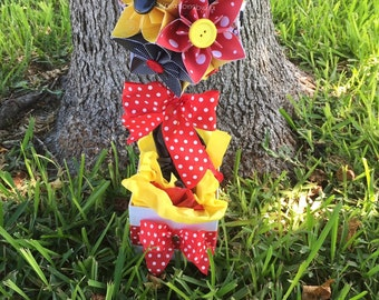 Oh Mickey- Origami/Kusudama Paper Flower Kissing Ball Centerpiece // Pomander/ Paper Flowers/ Pomander Kissing Ball/ Paper ball
