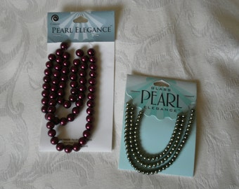 2 Packages of Pearl Elegance Beads for Jewelry Making