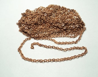 10 ft - Fine brass cable Chain   - m45