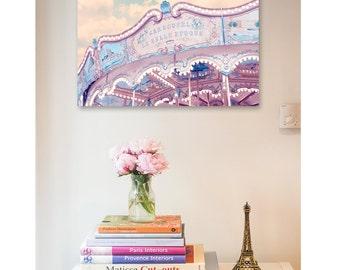 Paris photography print - Carousel print, merry-go-round print