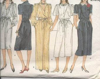 UNCUT Vintage Sewing Pattern Vogue 1156, for Dresses, Sz 14-16-18, 1980s