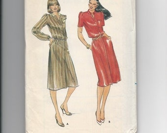 UNCUT Vintage Sewing Pattern Butterick 3415 for Dress, Sz 10-12-14, 1980s