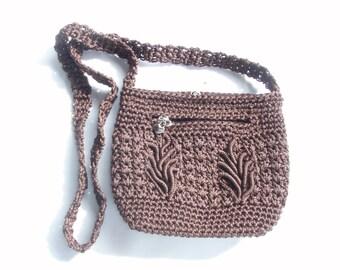 Dark Brown Crochet Purse