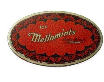 Art Deco Mallomint Tin Vintage 1930s Candy Box Advertising