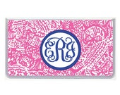 Personalized Checkbook Cover, Lilly Pulitzer Inspired Design