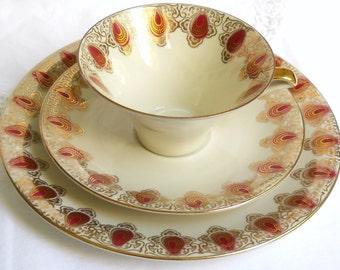 vintage teacup trio retro teacup trio german porcelain teacup shabby chic retro tea cup german teacup 640