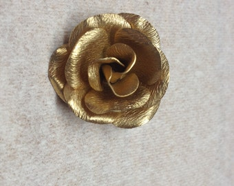 Vintage Goldtone Rose Pin/Brooch