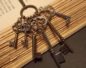 Skeleton Key Cluster Necklace
