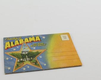 Vintage Alabama Postcard Folder - Lithograph 18 Views