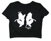 The Moon Cult Angel vs. Devil Crop Top s/m and m/l