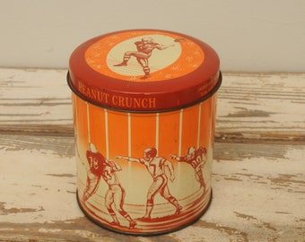 Vintage Football Tin with Lid Whitman Candies