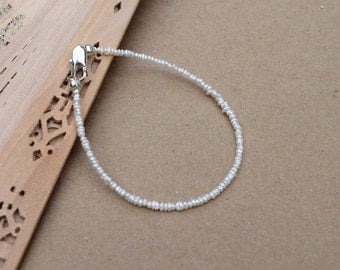 Dainty Freshwater Pearl Stacking Bracelet