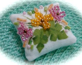 Tropical Flowers Mini Dollhouse Pillow