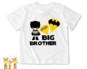 Big brother shirt batman Tshirt - Personalized Big brother Shirt or Bodysuit - 048_BB_S2C_batman