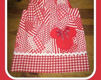 Multi-Print Red Mickey Pillowcase Dress