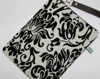 Black Damask iPad Case iPad air Air 2 Padded cover Sleeve/ Remove wrist