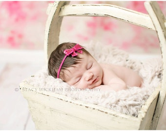 Hot Pink Sequin Bow Headband, Baby Headbands, Infant Headbands, Girl Headbands, Baby Girl Headbands, Baby Bow
