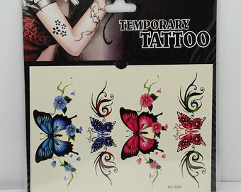 1pc butterfly pattern temporary tattoo sticker-10077