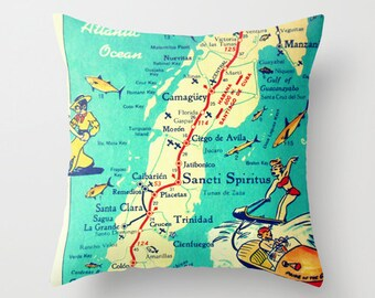 Us Map Cushion Cover Etsy - Us map pillow