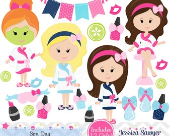 INSTANT DOWNLOAD, spa clipart and vectors for personal and commercial use