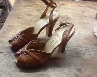 Vintage Tooled Shoes