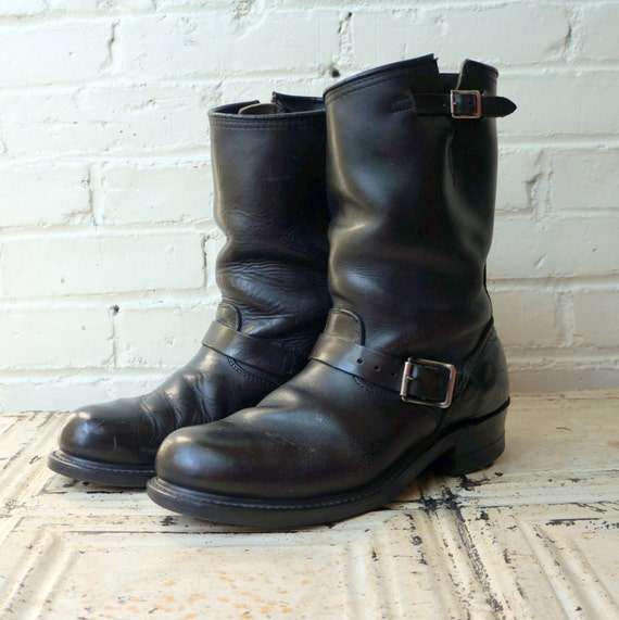 Outlaw Rider 1960s Vintage Engineer Boots Mens by RenegadeRevival