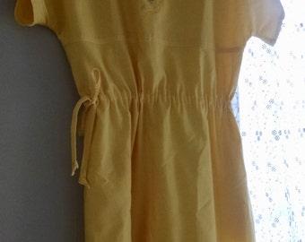 Vintage Villager Yellow Dress