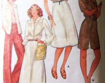 Butterick 5922 vintage carefully cut to size 10 - whole wardrobe in 1 pattern