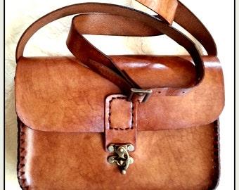 Unique handmade high-quality leather shoulder bag