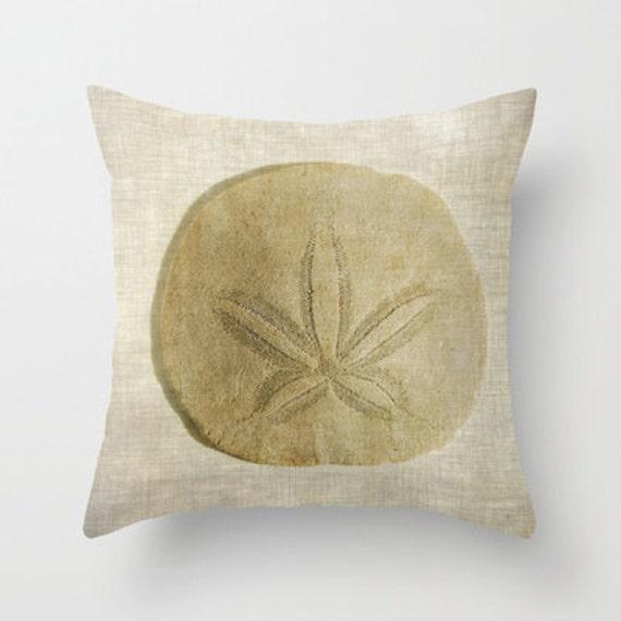 Throw Pillows Under 5 Dollars : Sand Dollar Decorative Throw Pillow Art Throw Pillow Throw