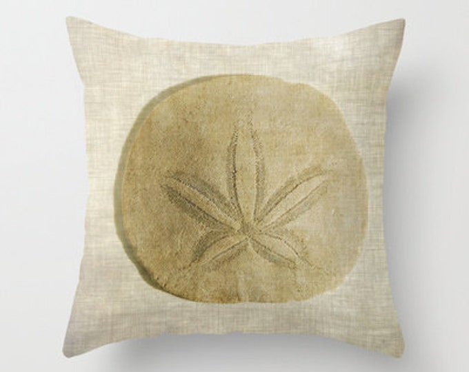 Sand Dollar Decorative Throw Pillow, Art Throw Pillow, Throw Pillows, Cottage Decor, Photography, Pillow Covers, Beach