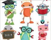 Robot Clip Art -Personal and Limited Commercial Use- back to school clipart