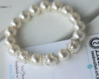 Pearl Elements Bead Bracelet, Swarovski Pearl Elements, Gift for Her