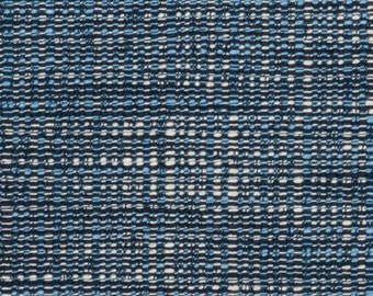 dark blue tweed upholstery fabric light blue material for furniture navy textured home decor - Home Decor Fabrics By The Yard
