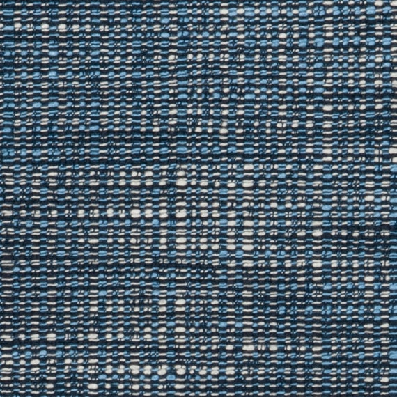 Dark Blue Tweed Upholstery Fabric Light Blue Material For