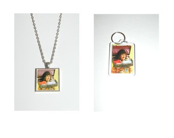 Weird Al Yankovic Glass Pendant Necklace and/ or Keychain