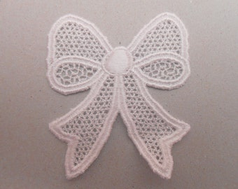Big bow white lace