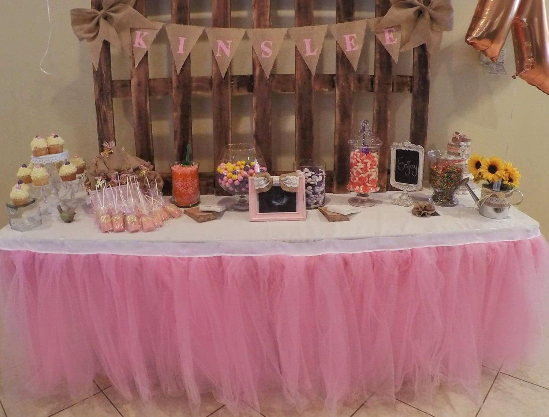 Custom Tutu Table Skirt Candy Buffet Centerpiece Head Table
