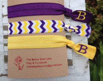 Monogrammed ECU Elastic Hair Ties
