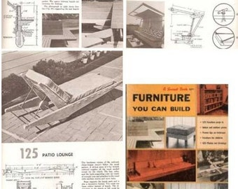 1960s FURNITURE You Can Build 125 projects Mid Century Modern design book
