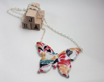 Everyday casual Ceramic Butterfly necklace