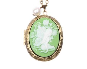 Necklace locket Fairy (3040m)