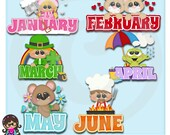 2015 It's On The Calendar Set 1  Clip art  Clipart Graphics  Commercial Use