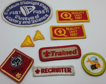 Vintage 1986, 1987, 1988 Boy Scouts of America Patches/Patch Lot 80s