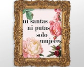 Solo Mujeres Wall Art - Instant Download - Poster