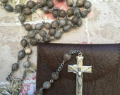 Her Rosary Beads A Vintage Rosary Sale Gift Idea Catholic Rosary Beads Free Shipping Worldwide