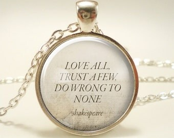 Personalized Gift Idea, Custom Quote Necklace, Inspirational Quote Pendant (1753S1IN)