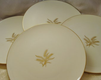 Lenox Wheat Goldstamp Dinner Plates Discontinued Set of 4 Great