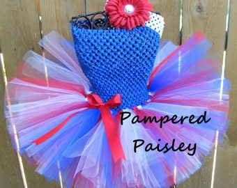 Patriotic, 4th of july, red white and blue tutu - 4th of July Tutu dress